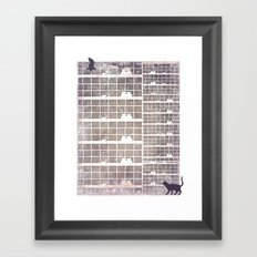 Our building, early in the morning Framed Art Print