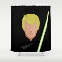 return Shower Curtains featuring Lukes Return by Rastlos