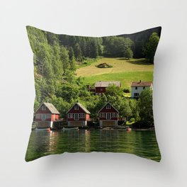 Norway landscape and fjord - Fine Art Travel Photography Throw Pillow