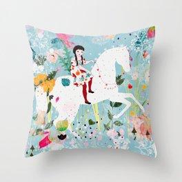 Storybook Horse Throw Pillow