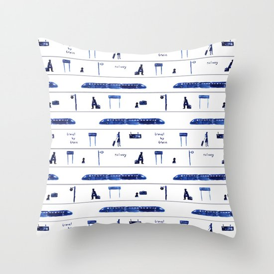 Travel by train #2 Throw Pillow