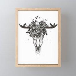 Dead summer (bw) Framed Mini Art Print