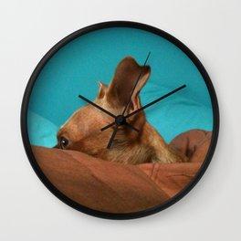 MADiSON (shelter pup) Wall Clock