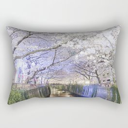 Nakameguro Sakura Rectangular Pillow