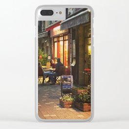 Evening in Provence Village Clear iPhone Case