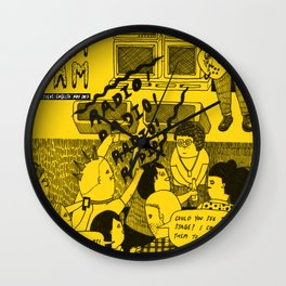 Pam Pam Zine #1 Cover Wall Clock