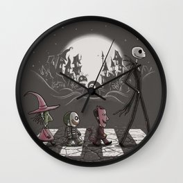 funny tee abbey road jak and sally Wall Clock