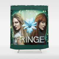 fringe Shower Curtains featuring Fringe - Dunhams by Hallowette