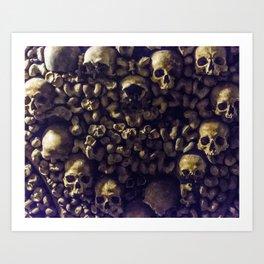 Heart of Skulls Art Print