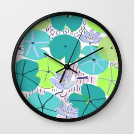 The Lily Pond 2 Wall Clock