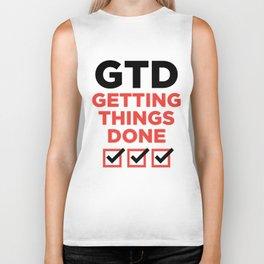 GTD : GETTING THINGS DONE Biker Tank