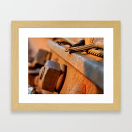 Bolts of the Track Framed Art Print