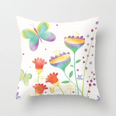 Home in the Summertime Throw Pillow