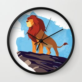 The Lion King Minimalist Wall Clock