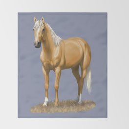 Beautiful Palomino Quarter Horse Throw Blanket