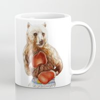 foo fighters Mugs featuring Bear Fighters. by beart24
