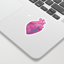 Hearts 01 - Human Heart (Transparent) Sticker