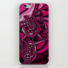Pink fractal iPhone & iPod Skin