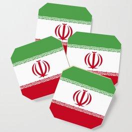 Iran flag emblem Coaster