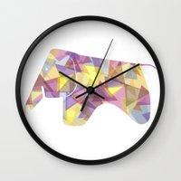 eames Wall Clocks featuring Eames Elephant by MoMo