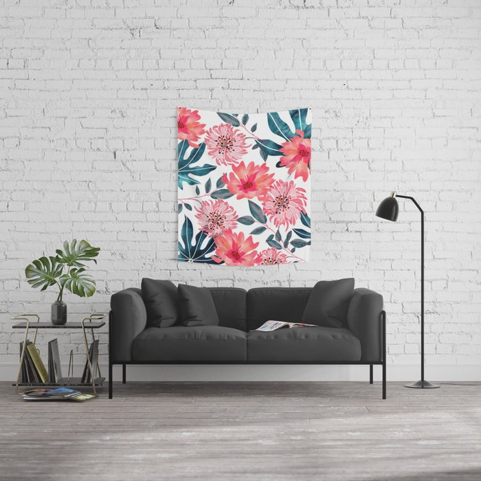 Yours Florally Wall Tapestry