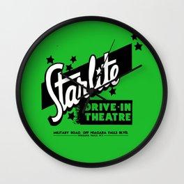 Starlite Drive In Green Wall Clock