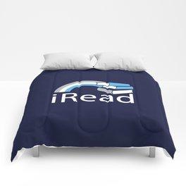 i Read | Book Nerd Slogan Comforters