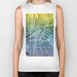Minneapolis Minnesota City Map Biker Tank