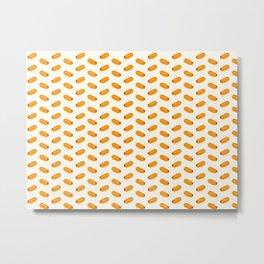 hot dog pattern Metal Print