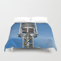 nicolas cage Duvet Covers featuring Tank Cage  by Ethna Gillespie