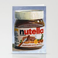 nutella Stationery Cards featuring Nutella Oil Painting by LVP _