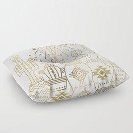 Santa Fe Garden – Gold Ink Floor Pillow