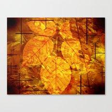 Autumn Memories In Orange Canvas Print