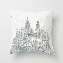Winter in New York Throw Pillow