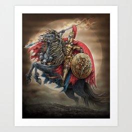 Spartan's army Art Print