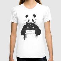 T-shirts featuring Bad panda by Balazs Solti