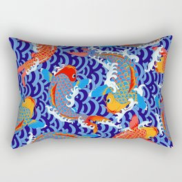 Koi fish / japanese tattoo style pattern Rectangular Pillow