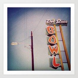Del Rosa Bowl - San Bernardino, CA Art Print
