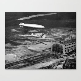 Zeppelin arrival over New Jersey Canvas Print