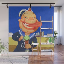 Oh, I do like to be beside the Seaside. Wall Mural