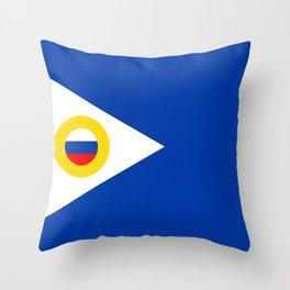 chukotka flag Throw Pillow