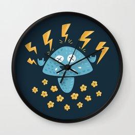 Heavy Metal Mushroom Wall Clock
