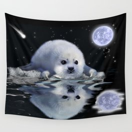 Destiny - Harp Seal Pup & Ice Floe Wall Tapestry