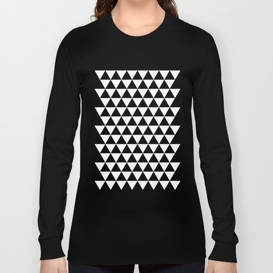 Triangles (Black/White) Long Sleeve T-shirt