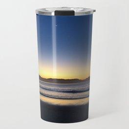 Byron Bay sunset with a moon Travel Mug