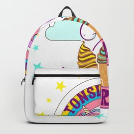 Cute Tonsil Removal Surgery Unicorn Ice Cream Backpack