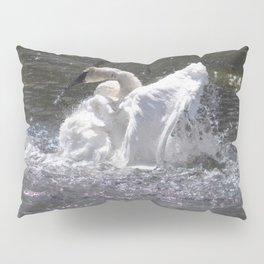 Swan's Lake - Preening Trumpeter Swan Pillow Sham