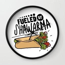 Fueled By Shawarma Wall Clock