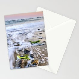 Green Seaweed. Pink Sunset At The Beach. Marbella. Stationery Cards