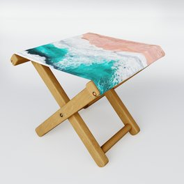 Beach Illustration Folding Stool